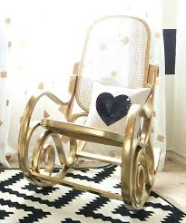 sofa attractive wooden rocking chair for nursery 39 white black and gold project bent wood rocker