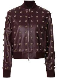 sel black gold studded jacket red lilles women clothing jackets leather sel black gold down