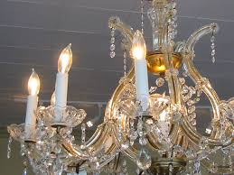 mid century modern ten light hand cut crystal chandelier for