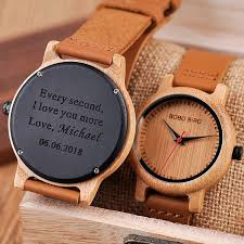 bobo bird customized wood watch women couple personalized gift to mom daughter dropshipping