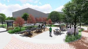 outdoor office plans. Fine Office New Benches Tables Shade Covers And Landscaping Will Be Part Of A Roughly  400000 To Outdoor Office Plans