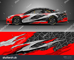 Design Racing Car Wrap Design Vector Graphic Abstract Stock Vector