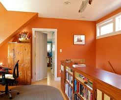 office interior wall colors gorgeous. Gorgeous Orange Home Office Design Interior Wall Colors C