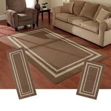 Living Room Rugs Walmart Frame Border Brown Area Rug Set Maples Rugs