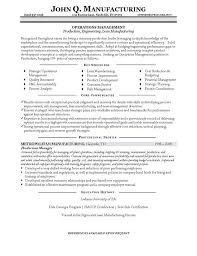 production manager resume example manager resumes samples