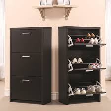 Black Wooden Tall 3-Drawer 12 Pair Shoe Organizer Cabinet Storage Rack  Shelf New | eBay