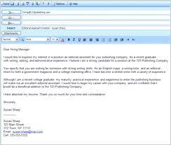 Cover Letter By Email Amazing Sending A Resume Via Email Sample For