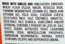goldfish ing list until around mid label ings