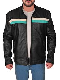 men biker racing leather jacket black racing biker leather jacket for men