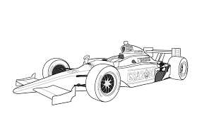Race Car Coloring Pages Printable Free Classic Style Free