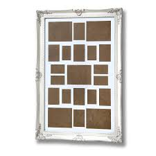 antique white ornate frame for multiple photos undefined