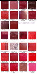 Hermes Color Chart Red In 2019 Hermes Handbags Hermes