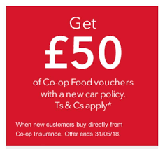 50 coop food voucher for taking up coop car insurance members only hotukdeals