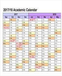 14 Academic Calendar Templates Free Sample Example