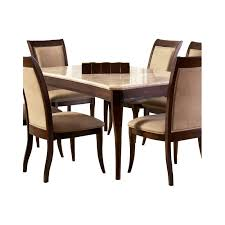 steve silver company mille marble top dining table in cherry