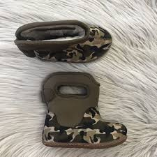 Bogs Kids Baby Bogs Green Camo Boots Infant Toddler Size 6