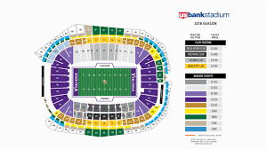 Michigan Stadium Seat Map Vikings Seating Chart At U S Bank