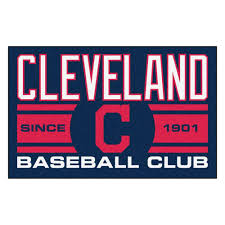 fanmats mlb cleveland indians navy blue 2 ft x 3 ft area rug
