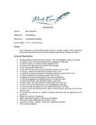 Amazing Housekeeping Attendant Resume Inspiration Documentation