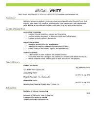 Training In Finance Intern Resume Fresh Resume Example Resume