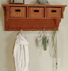 Oak Coat Rack With Baskets Interesting Coat Rack Bench Hot Deals Craftsman Coat Rack With Wicker Baskets