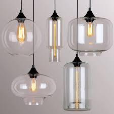 Clear Glass Pendant Lights For Kitchen Island Glamorous Glass Pendant Lights Contemporary Style Brushed Nickel
