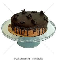 chocolate cake white background. Wonderful White Birthday Cake With Chocolate Isolated On White Background  Csp41235966 For Chocolate Cake White Background T