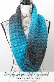 Free Infinity Scarf Crochet Pattern Unique Simply Aqua Infinity Scarf Free Crochet Pattern The Stitchin Mommy