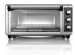 1 black decker to3250xsb 8 slice extra wide convection countertop toaster oven made of stainless steel in black color