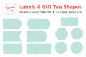 Gift Tag Template 27 Free Printable Vector Eps Psd Ai