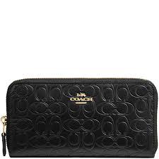 coach black signature leather zip around wallet nextprev prevnext