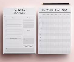 Free Download Daily Planner Minimal Planner A24 Agenda Inserts 24 Printable Planners 13
