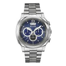 bulova mens chronograph blue dial stainless steel mens watch model categories