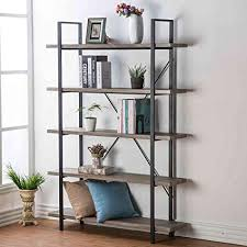 Industrial design furniture Iron Image Unavailable Joss Main Amazoncom Hsh Furniture 5shelf Vintage Industrial Rustic
