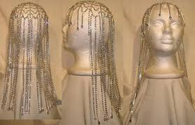 studio 54 rhinestone silver hairpiece