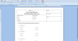 Hasil penilaian tengah semester selanjutnya diolah dan dianalisis untuk mengetahui ketuntasan belajar peserta didik. Soal Uas Matematika Semester 1 Kelas 6 Kurikulum 2013 Dan Kunci Jawaban Antapedia Com