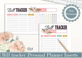 Printable Bill Tracker Monthly Bill Payment Checklist Annual Etsy