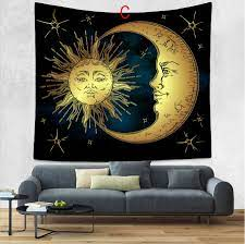 tapestry wall hanging sun and moon