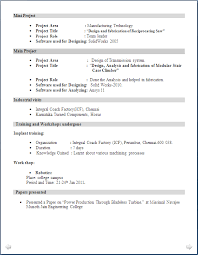 resumes for mechanical engineers mechanical engineer resume for fresher resume formats