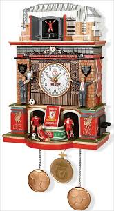 football tat behold the handsome liverpool fc anfield cuckoo clock you never knew you needed