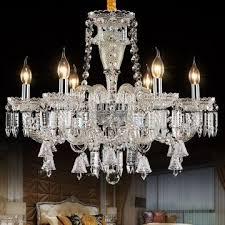modern chandelier for living room bedroom lamparas de techo k9 crystal light suspension led large crystal