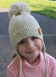 Earflap Hat Knitting Pattern Simple Cute Ear Flap Hat Free Pattern Love The Pom Pom On This I Want