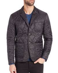 burberry gillington quilted jacket in black for men lyst burberry brit field jacket