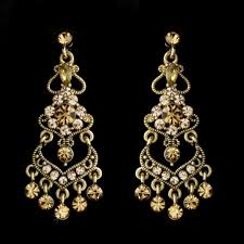 wedding bridal gold plated topaz crystals chandelier ideas for you