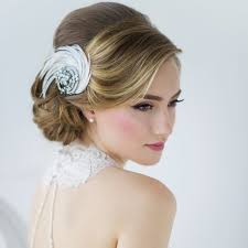 marlena vintage style feather hear peice bridal bags & accessories Wedding Hair Pieces With Feathers vintage style feather swirl hair accessory Flower and Feather Hair Pieces