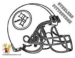 beautiful nfl football coloring pages pictures inside steelers and