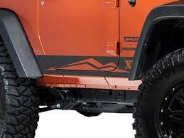 Jeep Wrangler <b>Rocker</b> Panel Stripe w/ Logo - Matte <b>Black</b> (07-18 ...