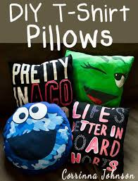 diy t shirt pillow 27 easy diy projects for teens who love to craft
