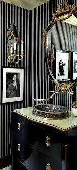 classic glamour of black in a small bathroom beautiful bathroomglamorous creative small home office
