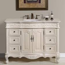 single sink white bathroom vanity. 48\u201d perfecta pa-113 bathroom vanity single sink cabinet (white oak finish marble) white l